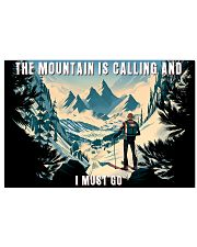 skiing The mountain is calling poster 17x11 Poster front