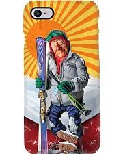 skiing Statue PC Phone Case i-phone-8-case
