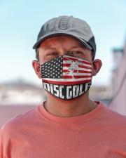 Disc Golf us flag mas Cloth Face Mask - 3 Pack aos-face-mask-lifestyle-06