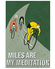 cycling mile are my meditation 11x17 Poster front