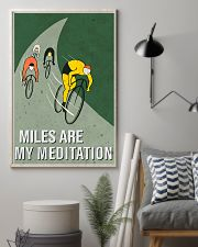 cycling mile are my meditation 11x17 Poster lifestyle-poster-1