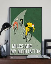 cycling mile are my meditation 11x17 Poster lifestyle-poster-2
