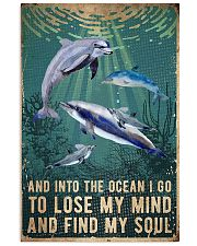 dolphin into ocean lose mind find soul 11x17 Poster front