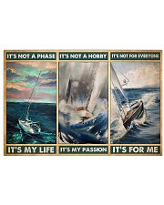 sailboat its not a phase pt mttn pml 17x11 Poster front