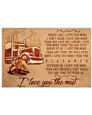 trucker and your love 24x16 Poster front