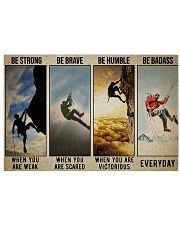 Rock climbing be strong be brave pt dvhh ngt Horizontal Poster tile
