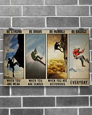 Rock climbing be strong be brave pt dvhh ngt 17x11 Poster poster-landscape-17x11-lifestyle-18
