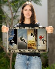 Rock climbing be strong be brave pt dvhh ngt 17x11 Poster poster-landscape-17x11-lifestyle-19