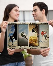 Rock climbing be strong be brave pt dvhh ngt 17x11 Poster poster-landscape-17x11-lifestyle-20