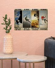 Rock climbing be strong be brave pt dvhh ngt 17x11 Poster poster-landscape-17x11-lifestyle-21