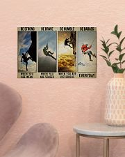 Rock climbing be strong be brave pt dvhh ngt 17x11 Poster poster-landscape-17x11-lifestyle-22