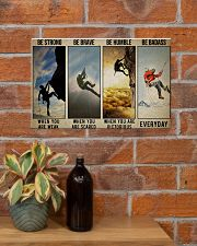 Rock climbing be strong be brave pt dvhh ngt 17x11 Poster poster-landscape-17x11-lifestyle-23