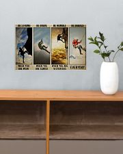 Rock climbing be strong be brave pt dvhh ngt 17x11 Poster poster-landscape-17x11-lifestyle-24