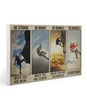 Rock climbing be strong be brave pt dvhh ngt 30x20 Gallery Wrapped Canvas Prints thumbnail