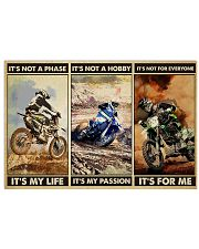dirt bike not a phase pt phq ngt 24x16 Poster front