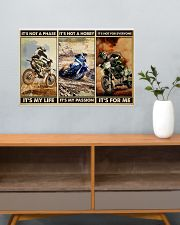 dirt bike not a phase pt phq ngt 24x16 Poster poster-landscape-24x16-lifestyle-25