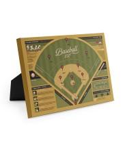 Baseball 101 canvas dvhh-ntv 10x8 Easel-Back Gallery Wrapped Canvas thumbnail
