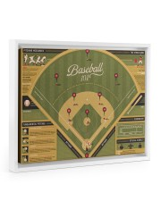 Baseball 101 canvas dvhh-ntv 14x11 White Floating Framed Canvas Prints thumbnail
