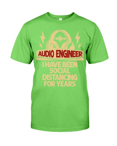audio engineer have been social distancing