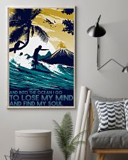 surfing into ocean poster 11x17 Poster lifestyle-poster-1