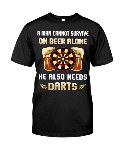 A Man Cannot Survive On Beer Alone He Needs Darts