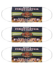 retired Firefighter honor mas Cloth Face Mask - 3 Pack front