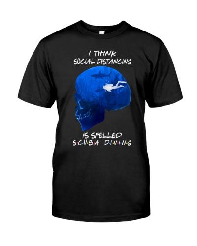 scuba diving social distancing skull