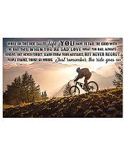 mountain biking on this ride mttn ntv1 17x11 Poster front