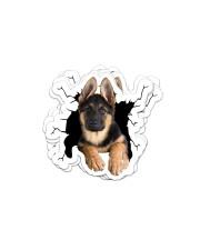 german shepherd crack sticker Sticker - 6 pack (Horizontal) front