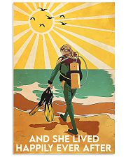 scuba diving girl happily poster 16x24 Poster front