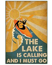 kayaking the lake is calling 16x24 Poster front