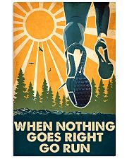 running nothing goes right 16x24 Poster front