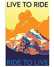cycling live to ride poster 11x17 Poster front