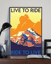 cycling live to ride poster 11x17 Poster lifestyle-poster-2