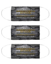 Correctional Officer expert advice mas Cloth Face Mask - 3 Pack front