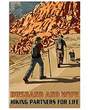 hiking partners for life dog poster 11x17 Poster front