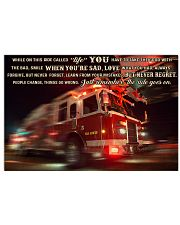 Fire truck ride called life poster ttb ngt Horizontal Poster tile
