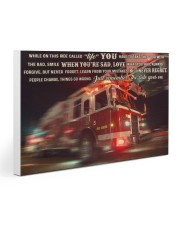 Fire truck ride called life poster ttb ngt Gallery Wrapped Canvas Prints tile