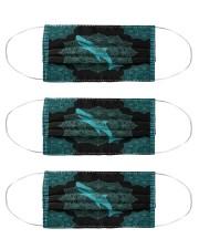 shark mandala mas Cloth Face Mask - 3 Pack front