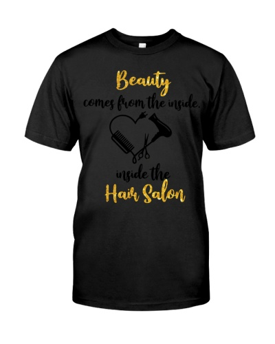 BEAUTY COMES FROM THE INSIDE THE HAIR SALON