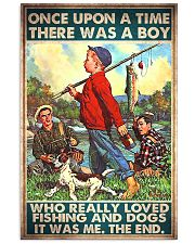 dog finshing boy Once upon a time pt mttn ngt 11x17 Poster front