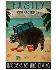 easily distracted by raccoons diving pt phq-NTH 11x17 Poster front