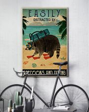 easily distracted by raccoons diving pt phq-NTH 11x17 Poster lifestyle-poster-7