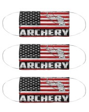 archery us flag mas Cloth Face Mask - 3 Pack front