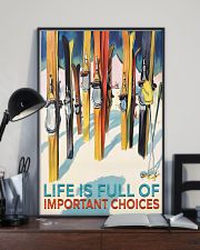 skiing life is full of important choices 11x17 Poster lifestyle-poster-2