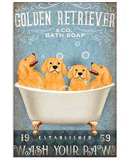 golden retriever co bath soap pt lqt pml 11x17 Poster front