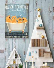 golden retriever co bath soap pt lqt pml 11x17 Poster lifestyle-holiday-poster-2