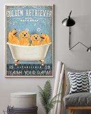 golden retriever co bath soap pt lqt pml 11x17 Poster lifestyle-poster-1