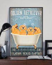 golden retriever co bath soap pt lqt pml 11x17 Poster lifestyle-poster-2
