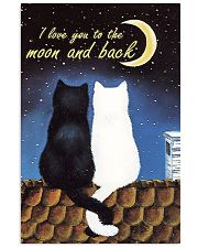 cat I love you to the moon and back 11x17 Poster front